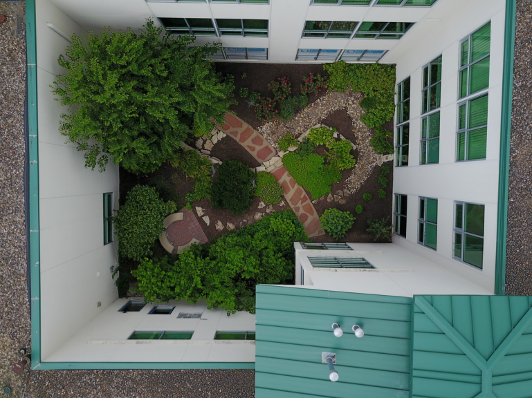 Our facility looks onto this gorgeous courtyard.